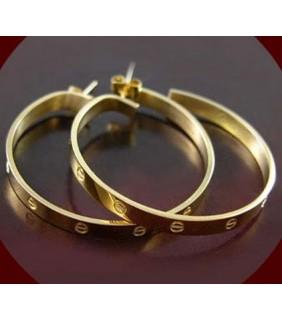 Cartier LOVE Hoop Earrings, Yellow Gold, Large