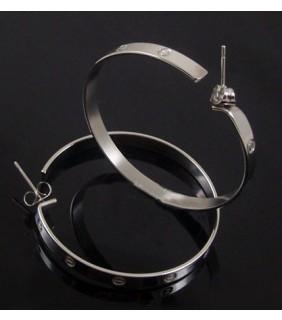 Cartier LOVE Hoop Earrings, White Gold, Large