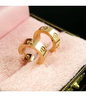 Cartier LOVE Pierced Earrings, 18K Yellow Gold