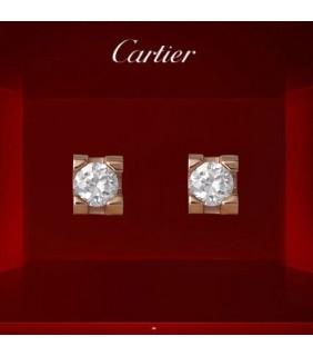 C DE Cartier Earrings,Pink Gold with Diamond