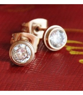 Cartier D'Amaour Diamonds Earrings in Pink Gold
