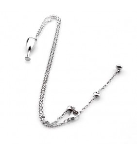 Inspired Cartier Goblet Necklace, 18K White Gold