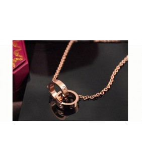 Cartier LOVE 18K Pink Gold Necklace.REF:B7013900