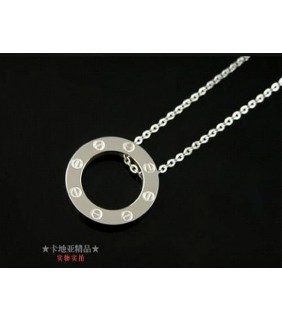 Cartier LOVE 18K White Gold Necklace With Pendant