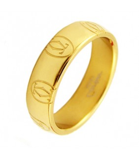 Cartier Happy Birthday Wedding Band Ring, Pink Gold