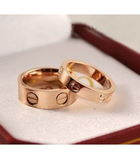 Classic Cartier LOVE Ring in Pink Gold
