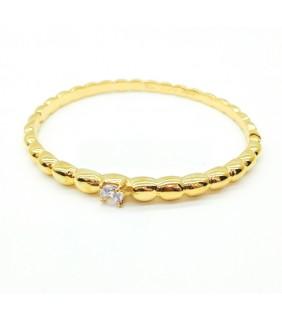 Van Cleef & Arpels Perlee Solitaire Bracelet in Yellow Gold
