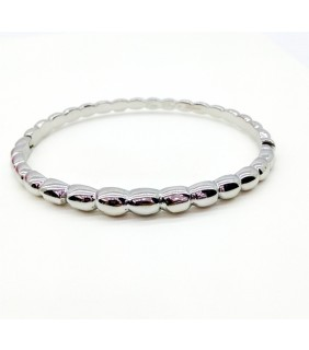 Van Cleef & Arpels Perlee Bangle Bracelet in White Gold