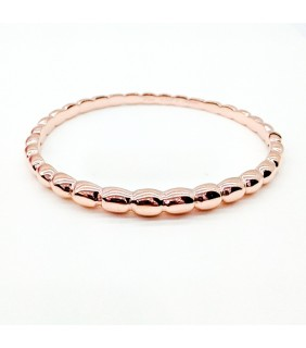 Van Cleef & Arpels Perlee Bangle Bracelet in Pink Gold