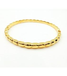Van Cleef & Arpels Perlee Bangle Bracelet in Yellow Gold