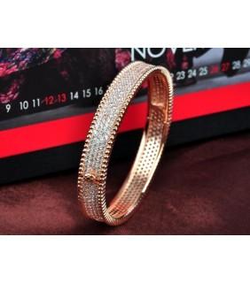 Van Cleef & Arpels Perlee Diamond Bracelet in 18kt Pink Gold, Medium Model