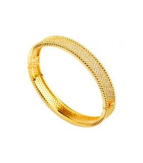 Van Cleef & Arpels Perlee Diamond Bracelet in 18kt Yellow Gold, Medium Model