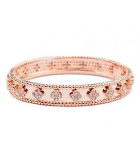 Van Cleef & Arpels Perlee Clover Bracelet in 18kt Pink Gold with Diamonds