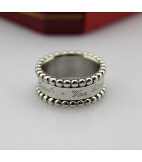 Van Cleef & Arpels Perlee Signature Ring, White Gold