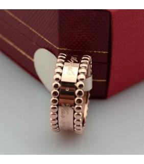Van Cleef & Arpels Perlee Signature Ring, Pink Gold