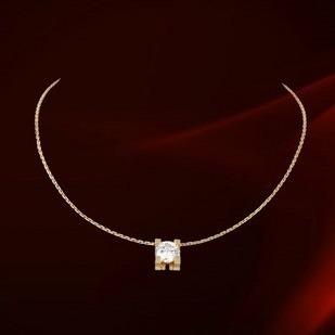 c de cartier pendant in white gold