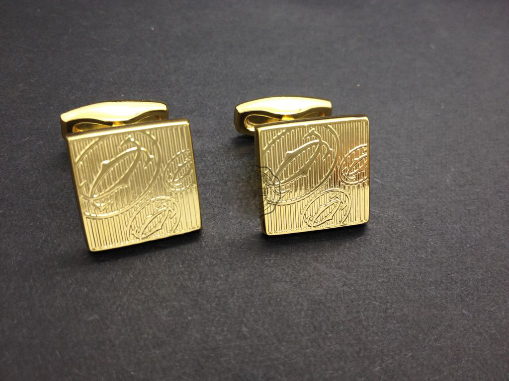 Cartier Yachao the fine workmanship gilded 19808 fashion cufflinks