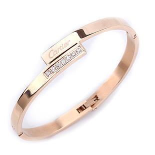 Fashion Cartier love bracelet 14K rose gold diamond