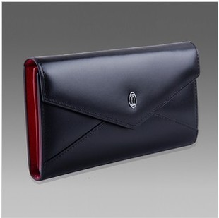 Cartier Men's business leather leather handbag Wristlet clutch bag long wallet