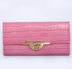 Ms. Cartier wallet leather long wallet crocodile pattern