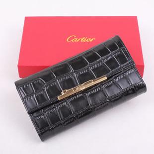 Cartier leather short paragraph female wallet