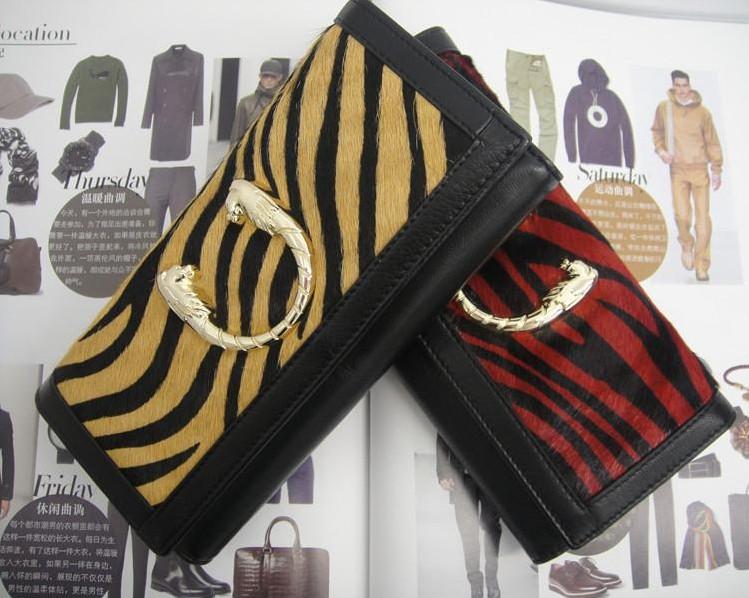 Cartier tiger stripe horsehair ladies wallet