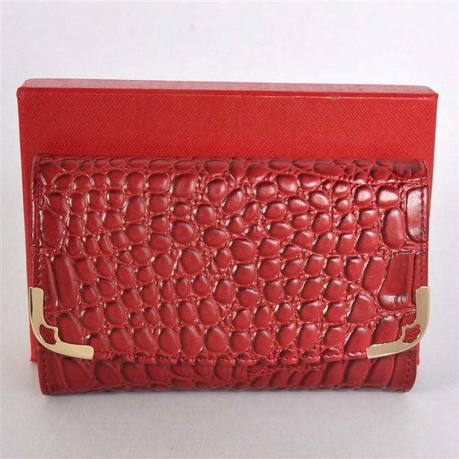 Cartier purse crocodile grain Lady wallet