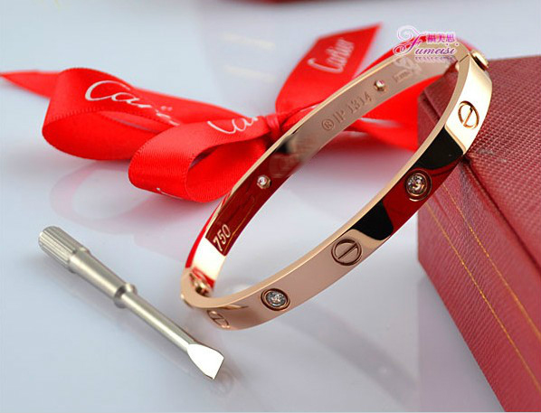 Cartier Leve Lovers Bangles Yellow Gold Diamond