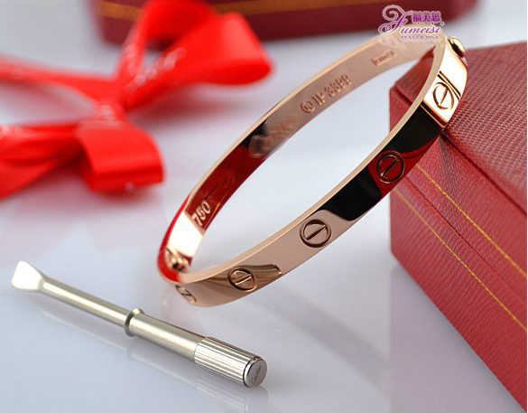 Cartier bangle love-Leve Lovers Bangles Pink Gold