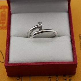 Cartier Juste Un Clou diamonds ring white gold