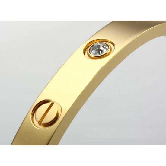 Cartier Love Bracelet in Yellow Gold Plated with Diamonds