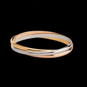 Fake Cartier Trinity Bracelet B6013301 3-Gold Lacquer