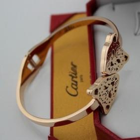 Faux Cartier bracelet Panthere 18K pink gold