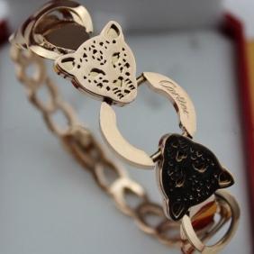 Replica Cartier 18K pink gold bracelet Panthere