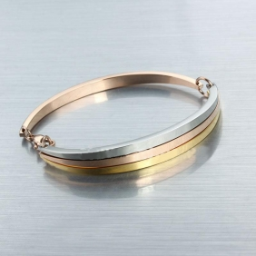 Replica Cartier Love Trinity Bracelet In Three Color