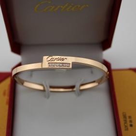 Replica Cartier pink gold 6 diamonds bracelet