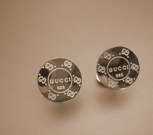 Gucci double circle icon cufflinks