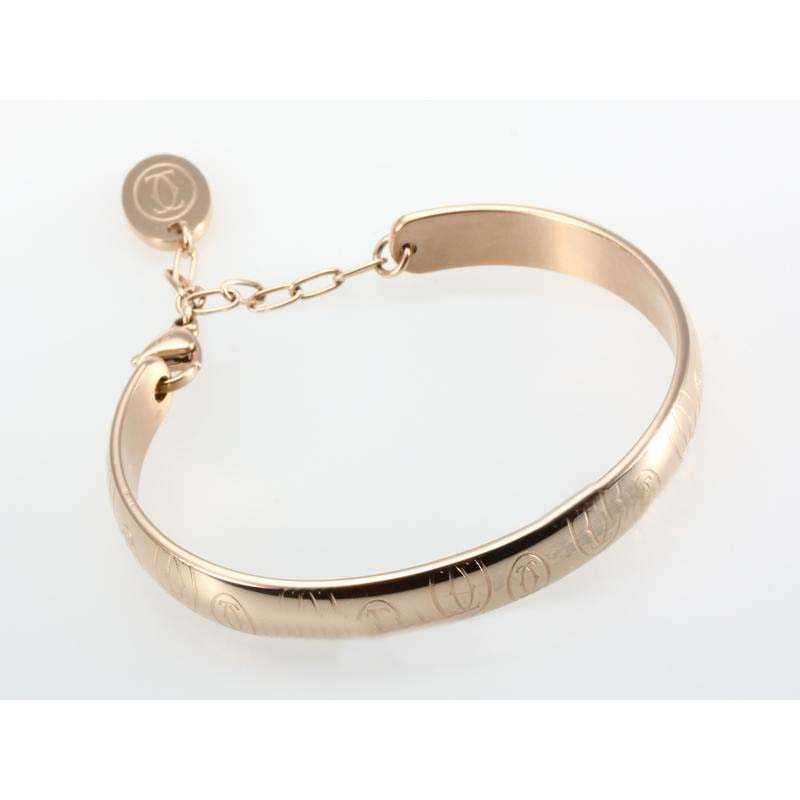 Cartier Double C Motif Bracelet in Rose Gold