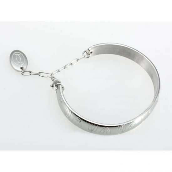 Cartier Double C Motif Charm Bracelet in Stainless Steel