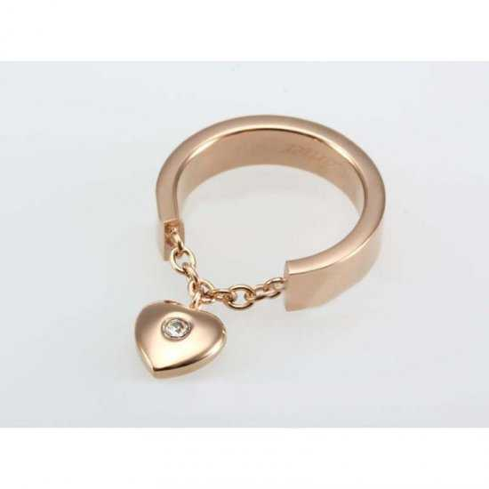 Cartier Heart Charm Ring in Rose Gold Plated with Diamond