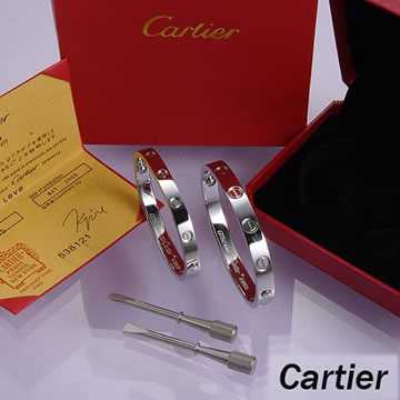 Cartier Leve Lovers Bangles White Gold (Double)
