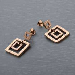 Cartier Notes Double-square Earring in Rose Gold Plated