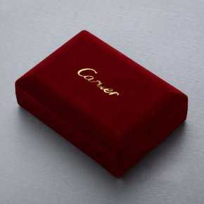 Cartier Red Jewelry Box with Black Inner Side