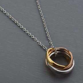 Cartier Three Tone Trinity Necklace