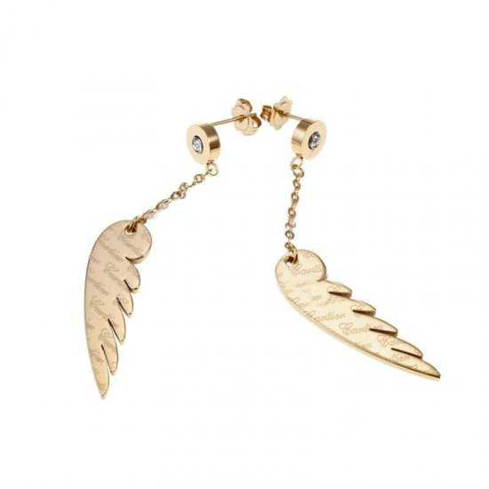 Cartier Yellow Gold Plated Signature Earrings of Angel Wings Mot