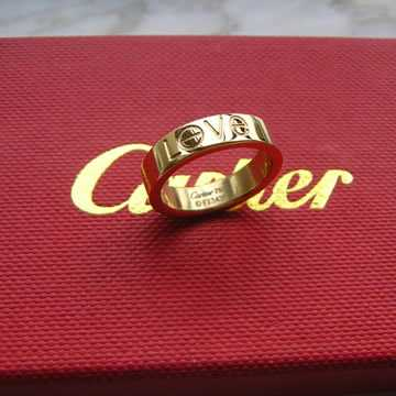 Cartier Love Leve ring letters