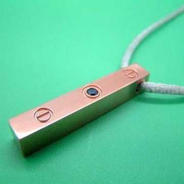 Cartier love pendant pink gold sapphire