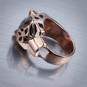 Best Replica cartier Rose Gold Plated Panthere ring for sale