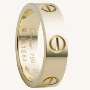 Cartier love ring yellow gold screws