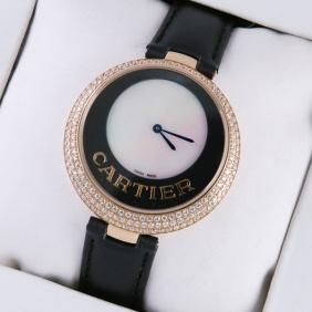 Fake Captive De Cartier 18k Rose Gold Diamonds Ladies Replica Watches